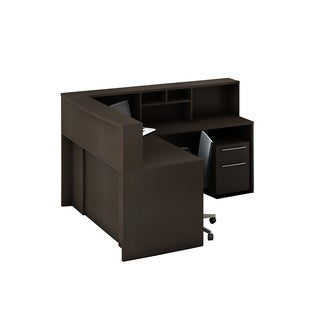 Reception Center Furniture 5pc Complete Group Model O4M1E6G4A Contemporary Espresso color. Refresh Your Reception Area.