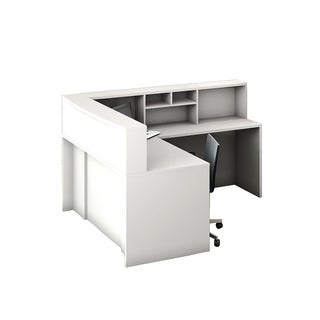Reception Center Furniture 4pc Complete Group Model O4M1E5G5A Contemporary White color. Refresh Your Reception Area.