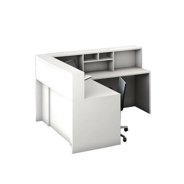 Reception Center Furniture 4pc Complete Group Model O4M1E5G5A Contemporary White color. Refresh Your Reception Area.