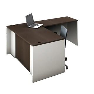 Reception Center Furniture 2pc Complete Group Model O4M1E5G2A Contemporary White+Espresso color. Refresh Your Reception Area.