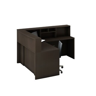 Reception Center Furniture 4pc Complete Group Model O4M1E5G4A Contemporary Espresso color. Refresh Your Reception Area.