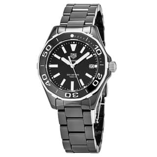 Tag Heuer Women's WAY1390.BH0716 '300 Aquaracer' Black Dial Black Ceramic Swiss Quartz Watch|https://ak1.ostkcdn.com/images/products/18025184/P24193163.jpg?impolicy=medium