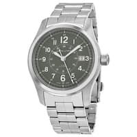 Hamilton Men's  'Khaki Field' Green Dial Stainless Steel Swiss Automatic Military Watch