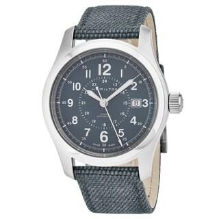 Hamilton Men's H70305943 'Khaki Field' Blue Dial Blue Fabric Strap Swiss Automatic Military Watch