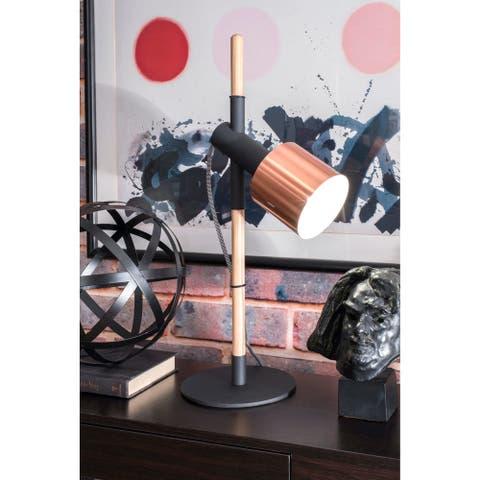 nuLOOM 24'' Ellie Metal Shade Black Table Lamp