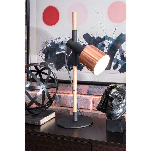 Watch Hill 24'' Ellie Metal Shade Black Table Lamp