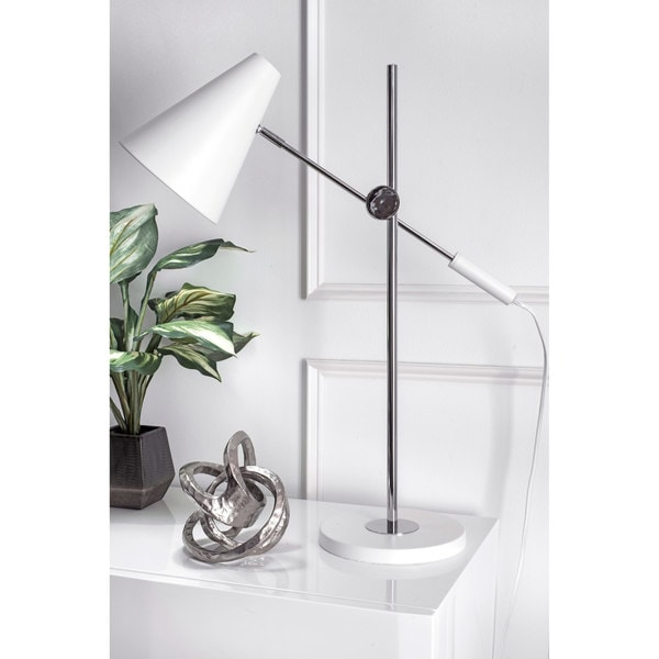 Watch Hill 27-inch Ariana Chrome Plated Metal Shade Table Lamp