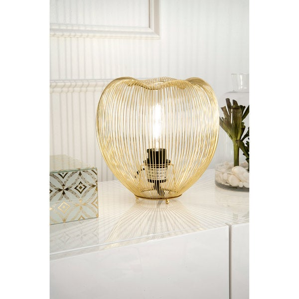 Watch Hill 9'' Lucy Brass Plated Metal Heart Shade Golden Table Lamp - Gold