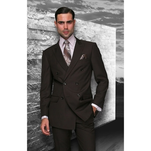 Statement TZD-100 Brown Double Breasted Suit