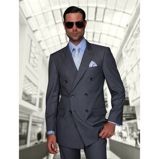 Statement TZD-100 Charcoal Double Breasted Suit