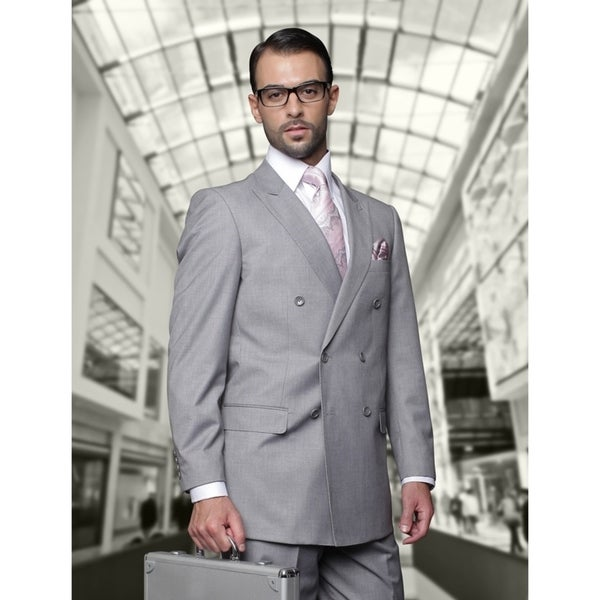 Statement TZD-100 Grey Double Breasted Suit