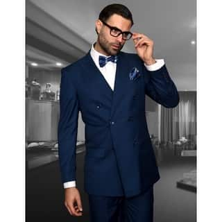 Statement TZD-100 Indigo Double Breasted Suit