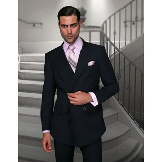 Statement TZD-100 Navy Double Breasted Suit