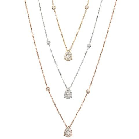 Kabella 18K Gold 1/4 ctw Diamonds Pear-Shape Necklace