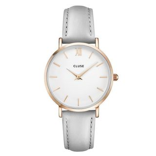 Cluse MINUIT Women's CL30002 Grey and Rose Gold Dress Watch