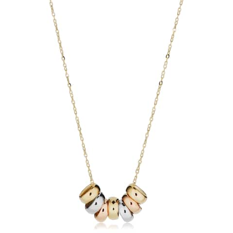 ec860c927 Fremada 14k Yellow Gold Seven Lucky Rings Necklace (adjustable to 17 or 18  inches). Was. $158.49. $15.85 OFF. Sale $142.64