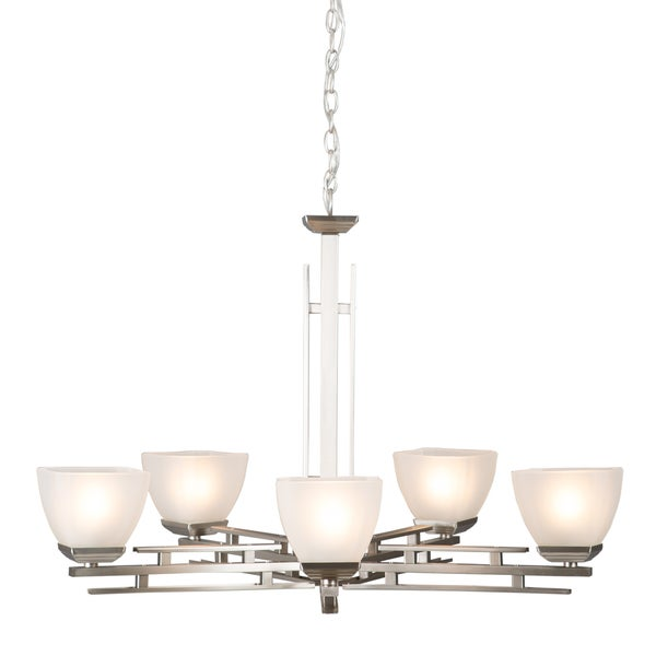 Yosemite Home DécorHalf Dome Collection Five Light Chandelier - Silver