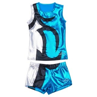 Obersee Cheer Dance Tank and Shorts Set - Abby Turquoise
