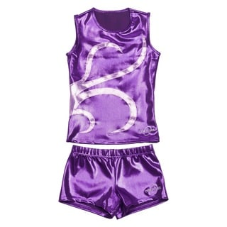 Obersee Cheer Dance Tank and Shorts Set - Purple Strands