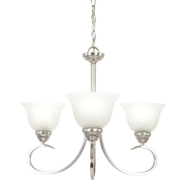 Yosemite Home Décor Ribbon Fall Collection Three Light Chandelier - Silver