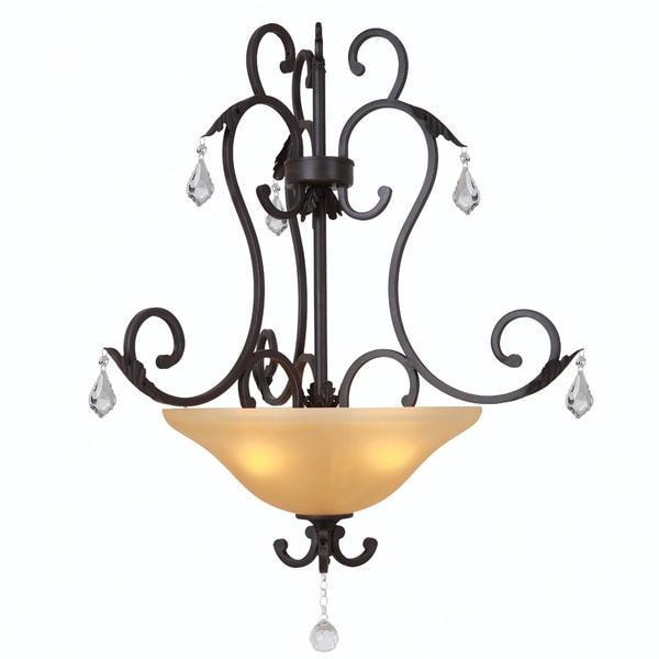 Yosemite Home Décor Vantage Collection Three Light Pendant
