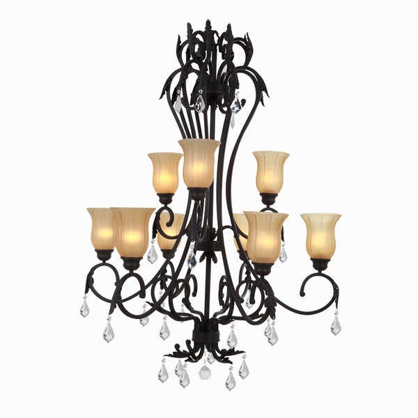 Yosemite Home Décor Vantage Collection Nine Light Chandelier