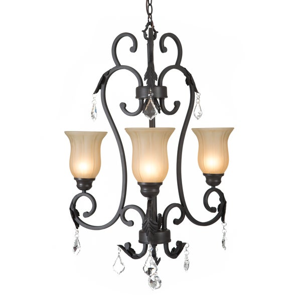Yosemite Home Décor Vantage Collection Three Lights Chandelier