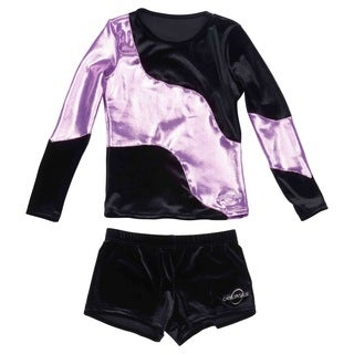 Obersee Cheer Dance Tank and Shorts Set - Long Arm Lilac Swerve