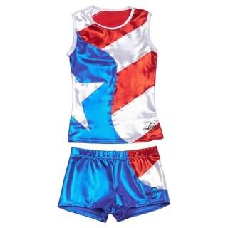 Obersee Cheer Dance Tank and Shorts Set - Flag