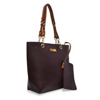 Adrienne Vittadini Fashion Tote handbag with Accessory Pouch