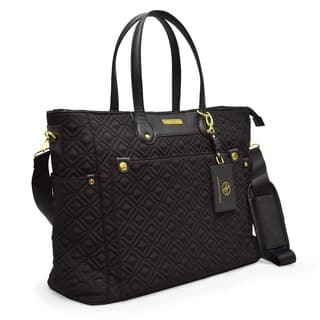 Quilted Nylon Tote Bag With Laptop Sleeve By Adrienne Vittadini|https://ak1.ostkcdn.com/images/products/18026339/P24194197.jpg?impolicy=medium