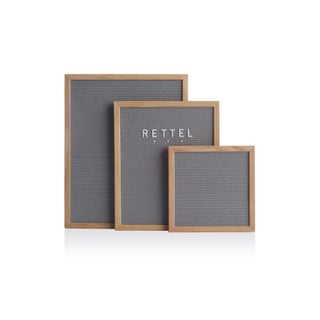 "Rettel Board Chit-Chat Letter Board 13""x16"" Oak Frame with Felt Backing and Letters Included"