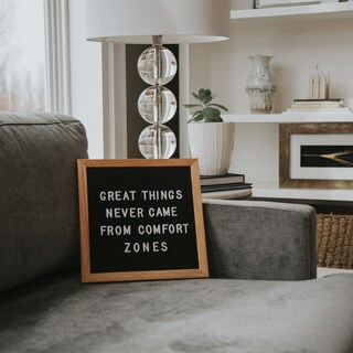 "Rettel Board Small Talk Letter Board 10.5"" x 10.5"" Oak Frame with Felt Backing and Letters Included (2 options available)"