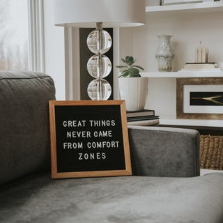 "Rettel Board Small Talk Letter Board 10.5"" x 10.5"" Oak Frame with Felt Backing and Letters Included"