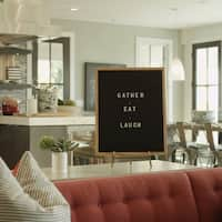 "Rettel Board The Statement Letter Board 16"" x 20"" Oak Frame with Felt Backing and Letters Included"