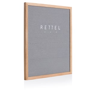 "Rettel Board The Statement Letter Board 16""x20"" Oak Frame with Felt Backing and Letters Included"