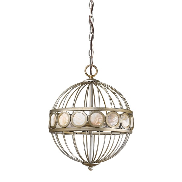 Acclaim Lighting Aria Indoor 3-Light Pendant In Antique Silver