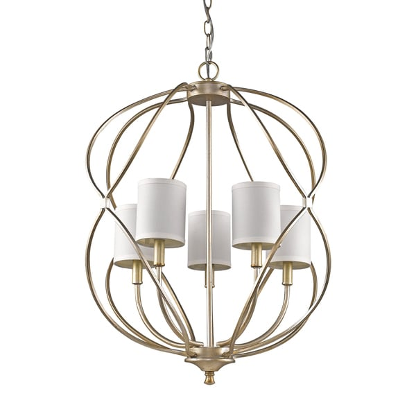 Acclaim Lighting Sharon Indoor 5-Light Pendant With Shades In Antique Silver