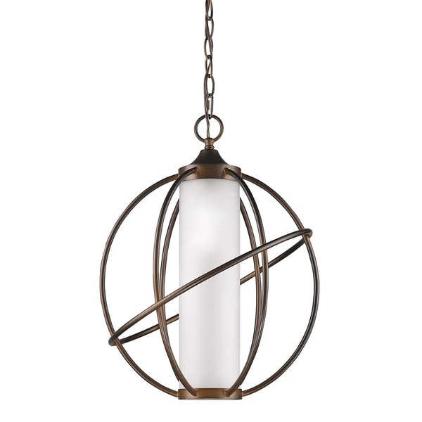 Acclaim Lighting Loft Indoor 1-Light Pendant w/Metal Cage In Oil Rubbed Bronze