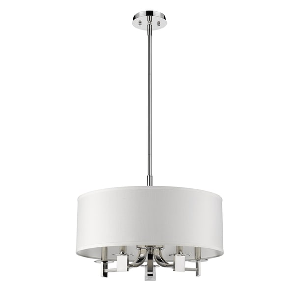 Acclaim Lighting Andrea Indoor 5-Light Pendant W/Fabric Shade In Polished Nickel