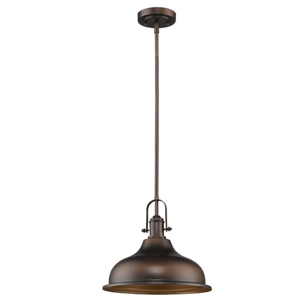 Acclaim Lighting Virginia Indoor 1-Light Mini Pendant W/Metal Shade In Oil Rubbed Bronze