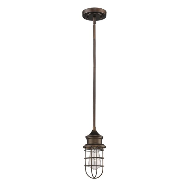 Acclaim Lighting Virginia Indoor 1-Light Mini Pendant W/Metal Cage In Oil Rubbed Bronze