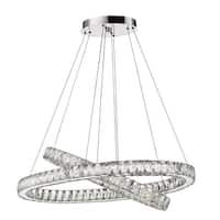 Acclaim Lighting Noemi Indoor LED Dual Oval Crystal Chandelier In Chrome - Silver