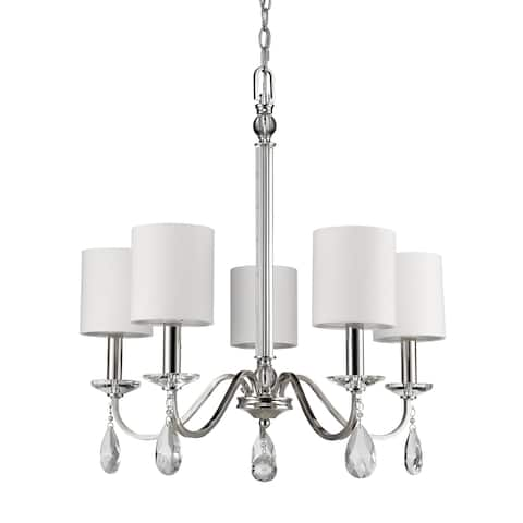 Lily 5-light Polished Nickel Chandelier