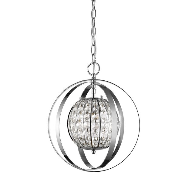 Acclaim Lighting Olivia Indoor 1-Light Pendant With Crystal In Polished Nickel - Silver