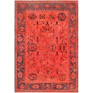 "Pasargad Overdye Colletion Hand-Knotted Wool Area Rug (7' 7"" X 11' 4"")"
