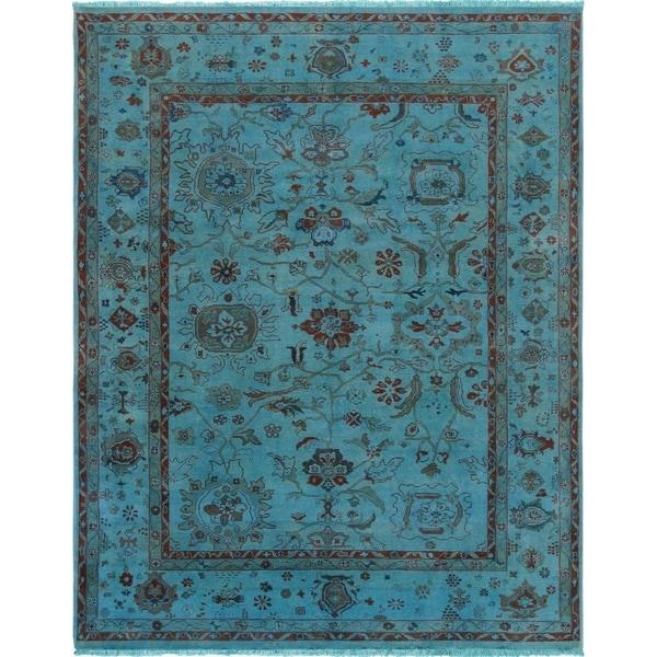 "Pasargad Overdye Colletion Lamb's Wool Area Rug (8' 3"" X 10' 0"") - 8' x 10'"