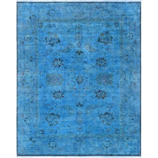 "Pasargad Overdye Colletion Blue Lamb's Wool Area Rug (8' 0"" X 10' 0"")"
