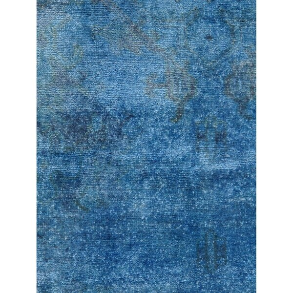 """Overdye Blue Colletion Hand-Knotted Wool Area Rug (10' 5"""" X 14' 0"""") - 10' x 14'"""