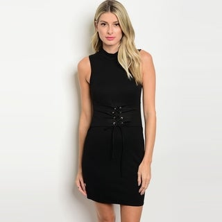 Shop The Trends Women's Sleeveless Short Bodycon Dress With Mock Neckline (More options available)